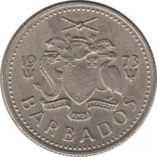 10 cents - Barbades