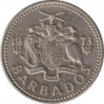 25 cents - Barbades