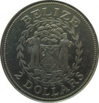 2 dollars - Belize