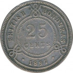 25 cents - British Honduras