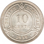 10 cents - British Honduras