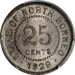 25 cents - Borneo britannique