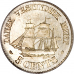 5 cents - Indes occidentales danoises