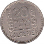 20 francs - French Colony