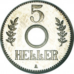 5 heller - German East Africa