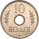 10 heller - German East Africa