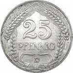 25 pfennig - Empire allemand