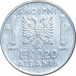 0.20 lek - Occupation italienne