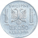 0.50 lek - Occupation italienne