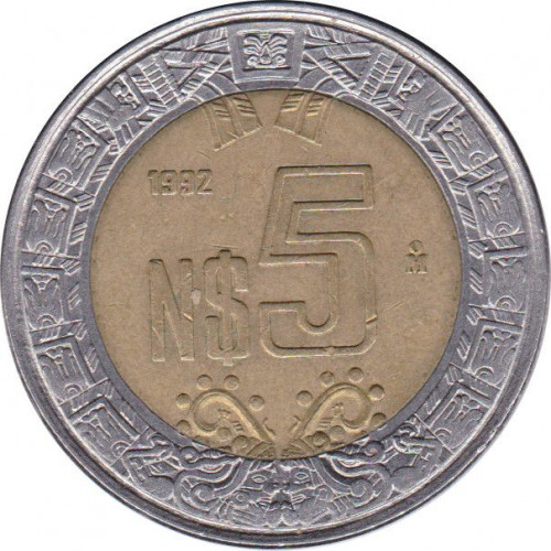 5 pesos - Mexique