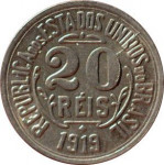 20 reis - Republic of Brazil