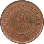 40 reis - Republic of Brazil