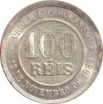 100 reis - Republic of Brazil