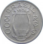300 reis - Republic of Brazil
