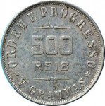 500 reis - Republic of Brazil