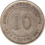 10 cents - Etablissements des Détroits